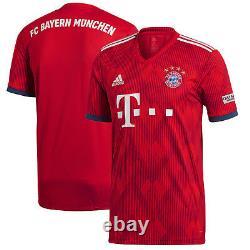 Adidas Bayern Munich 2018 2019 Home Soccer Jersey Brand New Red / Navy