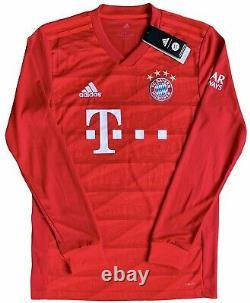 Adidas Bayern Munich 2019/20 L/S Home Jersey Lewandowski 9. BNWT, Size S