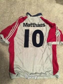 Adidas Bayern Munich 98-99 UEFA Special Matthaus Football Shirt Soccer Jersey XL