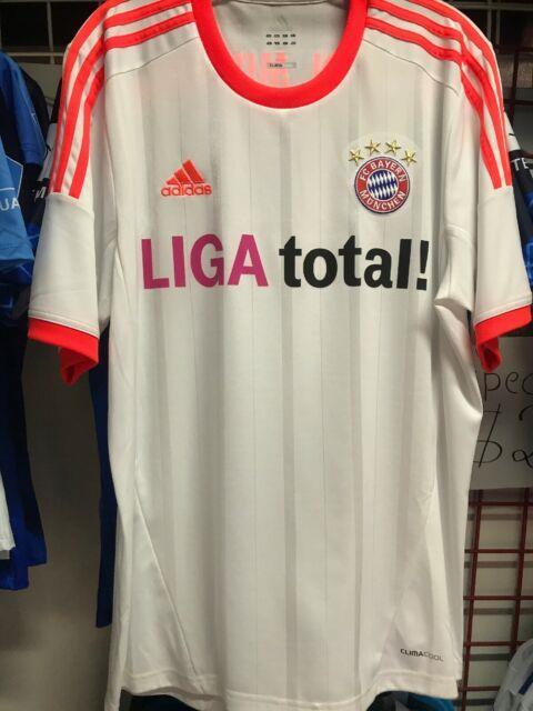 Adidas Bayern Munich Away 2012-13 Soccer Jersey White Orange Size L Mens Only