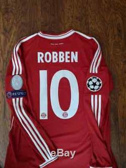Adidas Bayern Munich Champions Final 2013 Robben L Ls Long Original Jersey Shirt