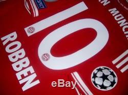 Adidas Bayern Munich Champions Final 2013 Robben L Original Jersey Shirt