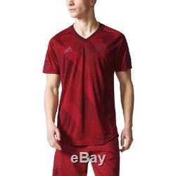 Adidas Bayern Munich FC 2017 2018 Elite SSP Training Soccer Jersey Maroon
