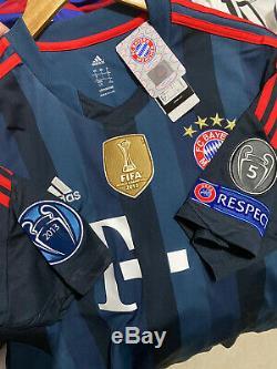 Adidas Bayern Munich Franck Ribery Third UCL Jersey / Shirt 2013-2014 BNWT sz L
