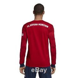 Adidas Bayern Munich Home Mens Long Sleeve Jersey 2018/2019