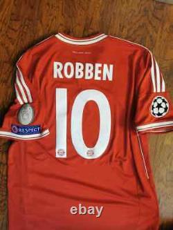 Adidas Bayern Munich Munche Robben Champions Final 2013 L Original Shirt Jersey