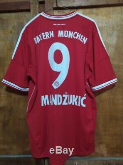 Adidas Bayern Munich Munchen Mandzukic Champions Final 13 Original Shirt Jersey