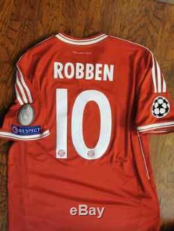 Adidas Bayern Munich Munchen Robben Champions Final 2013 S Original Shirt Jersey