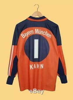 Adidas Bayern Munich Oliver Kahn 1 Goalkeeper Football Shirt Jersey Medium