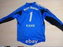 Adidas Bayern Munich Oliver Kahn Football Shirt Jersey Goalkeeper Torwart Trikot