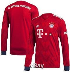 Adidas Bayern Munich Red 2018/19 Home Replica Long Sleeve Jersey