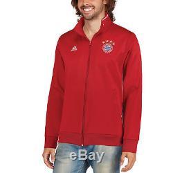 Adidas Bayern Munich Red 3S Full-Zip Training Jersey