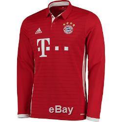 Adidas Bayern Munich Red/White 2016/17 Home Long Sleeve Jersey