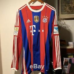 Adidas Bayern Munich Schweinsteiger Home Jersey/Shirt 2014-15 sz Large
