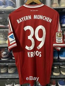 Adidas Bayern Munich Toni Kroos Home Jersey/Shirt 2013-14 BNWT sz L