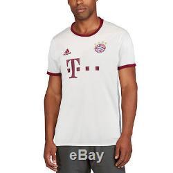 Adidas Bayern Munich White/Maroon 2016/17 Third Jersey