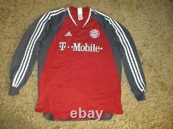 Adidas FC BAYERN MUNCHEN long trikot vintage shirt MUNICH München jersey FCB