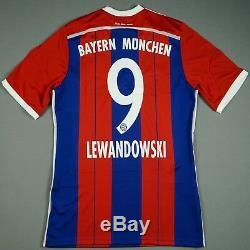 Adidas FC Bayern Munich 14/15 M Home Shirt Jersey Trikot Lewandowski BNWT