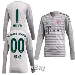 Adidas FC Bayern Munich FCB Mens Kids Goalkeeper Jersey Shirt 2018 2019 Neuer 1