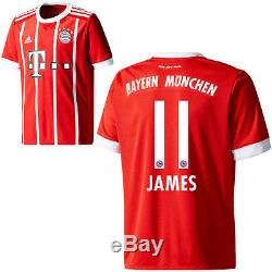 f969c4464 Adidas Fc Bayern Munich Football Home Jersey Shirt 2017 2018 James Rodriguez