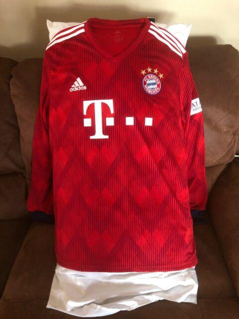 Adidas Fc Bayern Munich Football Home Long Sleeve Nwt Mens Size Xl