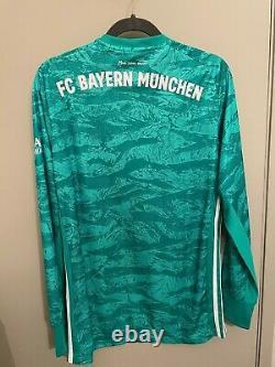 Adidas FC Bayern Munich Football Neuer Home Goalkeeper Jersey 2019 2020 M EH4243