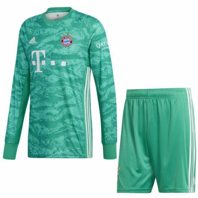 Adidas Fc Bayern Munich Mens Home Goalkeeper Kit 2019 2020 Jersey/shirt Shorts