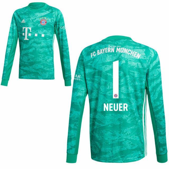 Adidas Fc Bayern Munich Mens Kids Home Goalkeeper Jersey Shirt 2019 2020 Neuer 1