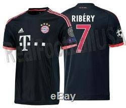 Adidas Franck Ribery Bayern Munich Uefa Champions League Third Jersey 2015/16