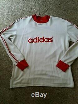 Adidas Germany Vintage Bayern Munich Jersey Shirt Trikot BECKENBAUER Sz L/XL