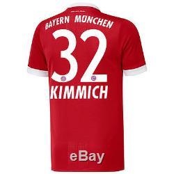 Adidas Joshua Kimmich Bayern Munich Red 2017/18 Home Authentic Jersey