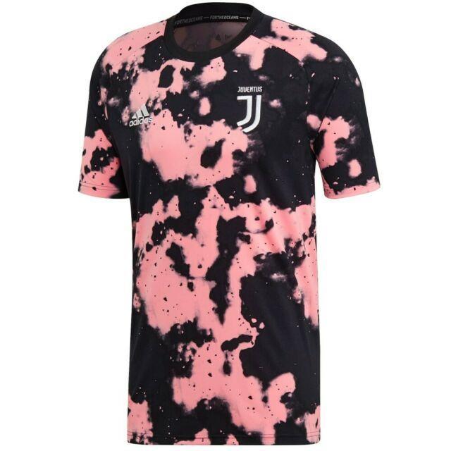 Adidas Juventus Fc 2019 2020 Elite Training Soccer Jersey Brand New Black Pink