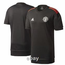 Adidas Manchester United 2017 2018 UCL Training Soccer Jersey Brand New Black
