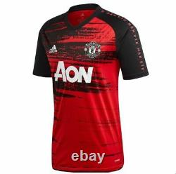 Adidas Manchester United 2020 2021 Elite Training Soccer Jersey Red Black