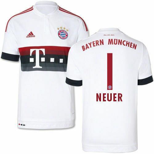 Adidas Manuel Neuer Bayern Munich Away Jersey 2015/16