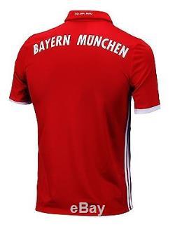 Adidas Men Bayern Munchen 2016-2017 Home Jersey Climacool Soccer Football AI0049