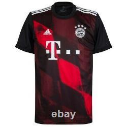 Adidas Men's 20/21 Bayern Munich 3rd Stadium Jersey (Black/Red) FN1949