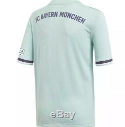 Adidas Men's 2018/19 Bayern Munich Away Stadium Jersey Sz. S NEW CF5410 Müller