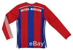 Adidas Mens Football Club Bayern Munich Long Sleeve Home Jersey Blue M
