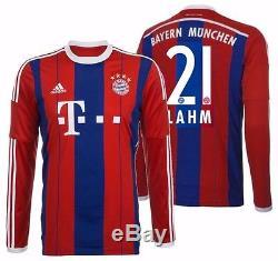 Adidas Philipp Lahm Bayern Munich Long Sleeve Home Jersey 2014/15