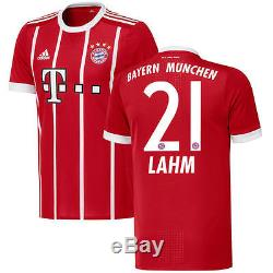 Adidas Philipp Lahm Bayern Munich Red 2017/18 Home Authentic Jersey