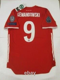 Adidas R. Lewandowski Bayern Munich Champions League Match Home Jersey 2020/21