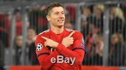 Adidas Robert Lewandowski Bayern Munich Authentic Match Ucl Home Jersey 2018/19