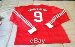 Adidas Vintage Retro Bayern Munich Soccer Jersey Football Shirt RARE #9 XL