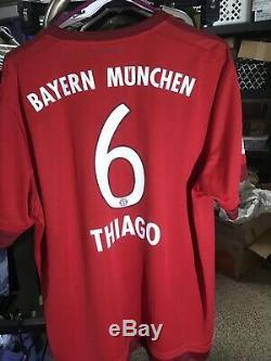 the best attitude 7573d 7cc4a Adidas Xl 2015-2016 Thiago Alcantara Bayern Munich Shirt ...