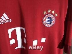Adidas XL 2015-2016 Thiago Alcantara Bayern Munich Shirt Jersey Kit Camiseta NWT