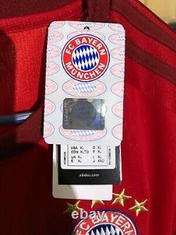 Adidas XL 2015-3016 Arjen Robben Bayern Munich Shirt Jersey Kit Camiseta NWT