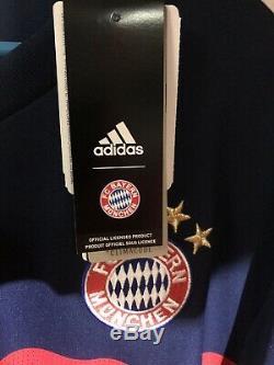 Adidas XL Franz Beckenbauer Original Bayern Munich Shirt Jersey Kit Camiseta NWT