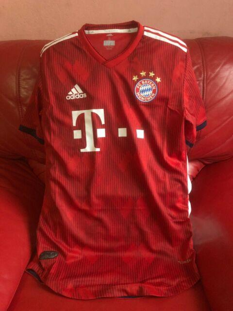 Adidas Fc Bayern Munchen Authentic Jersey Team Soccer Nwt Size S Mens