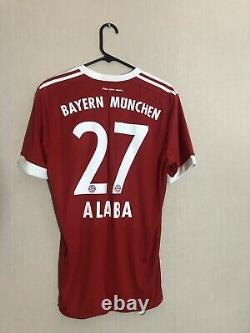 Alaba #27 Bayern Munich 2017/18 Medium Home Football Shirt Jersey Adidas BNWT